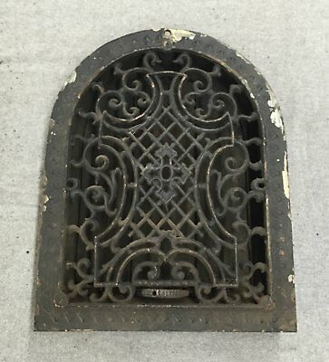 Antique Cast Iron Arch Top Victorian Dome Heat Grate Wall Register 9x12 1180-16