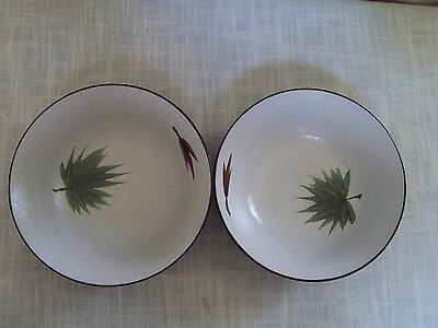 Harmony House Maple Leaf Soup Cereal Bowls Set of 2