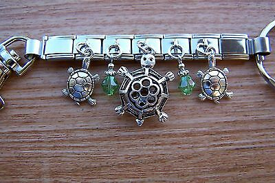 Handcrafted Turtle Charm Key Ring