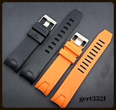 Silicone/Rubber MENS WATCH  BAND STRAP + BUCKLE  FIT FOR SEAMASTER  PLANET OCEAN