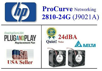 Pack of 2x Quiet version fans HP ProCurve 2810-24G (J9021A) Best Home Office