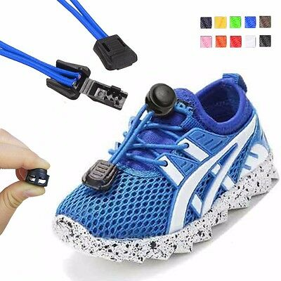1 Pair Elastic No-Tie Locking Shoelaces Shoe Laces For Sport Shoes For running