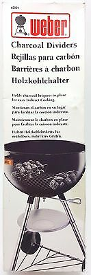 Weber Charcoal Dividers Set Fits 18.5 or 22.5 inch Kettles Grills BBQ 3901 New