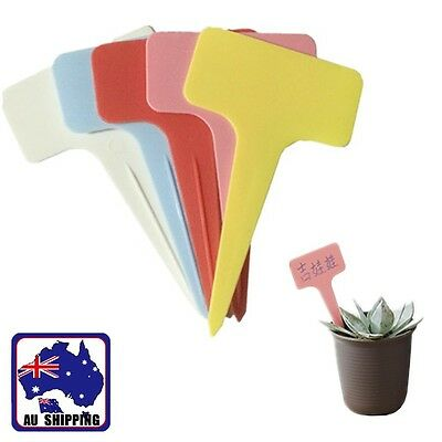 50PCS Plastic Garden Plant Pot Labels Tags T-type Home Yard Nursery HVTA212