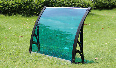 """30""""×40""""UV Rain Protection Awning Polycarbonate Canopy Patio Cover Lake Blue"""