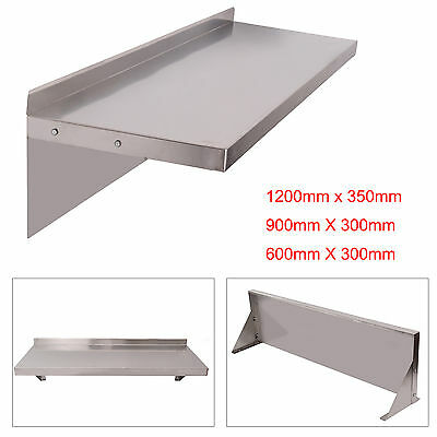 600 900 1200mm Commercial Stainless Steel Wall Shelf Kitchen Shelves w/ Brackets