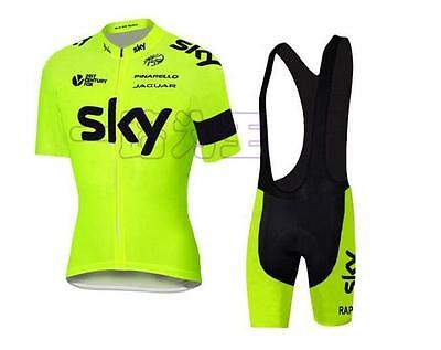 New Outdoor Sport Pro Team Cycling Jersey Bib Shorts Bike Clothes Set Wear UK-6