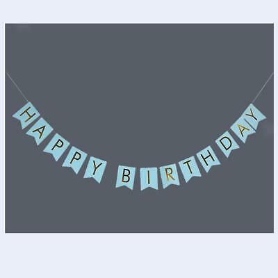 Happy Birthday Banner Bunting Garland Hanging Baby Show Party Decoration