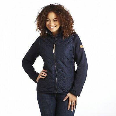 Regatta Amylove Womens Quilted Knit Effect Padded Insulated Jacket Navy