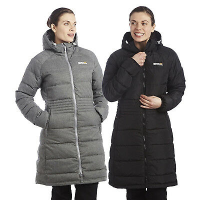 Regatta Carmella Womens Active Fit 3/4 Length Down Filled Parka Jacket