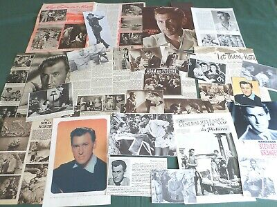 Stewart Granger - Film Star - Clippings /cuttings Pack