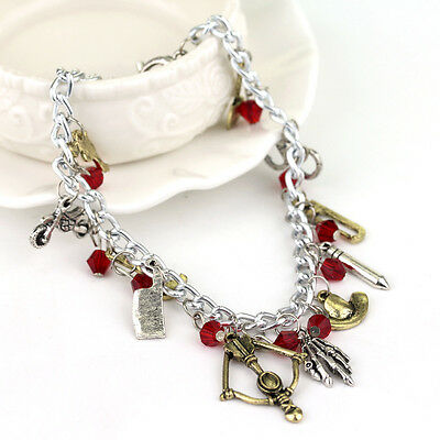 Zombie Hunter Weapon Apocalypse Horror Walking Dead Charm Bracelet Hat Crossbow
