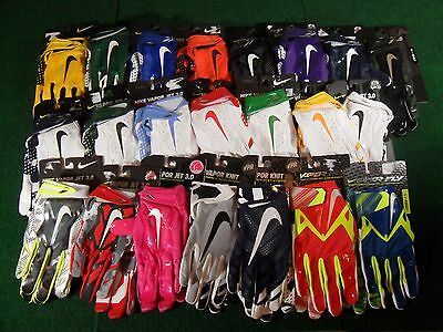 Nike Vapor Jet 3.0 Knit Fly Skill Receiver Football Gloves 4.0 D-Tack 5 Added!