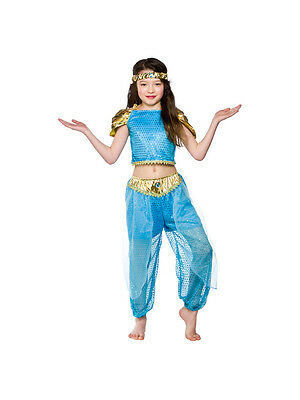 Child Arabian Princess Outfit Fancy Dress Costume Book Week Jasmine Kids Girls