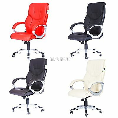 FoxHunter Computer Executive Office Desk Chair PU Leather Swivel High Back OC08