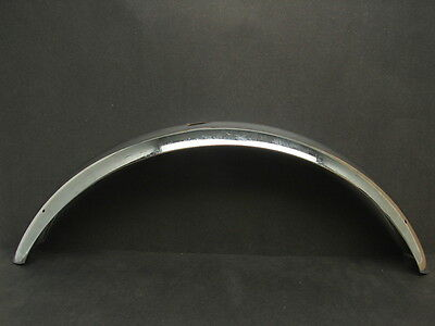 "Vtg NOS Stainless Steel Chrome 24"" Balloon Bicycle Tire Front Fender 3"" Wide"