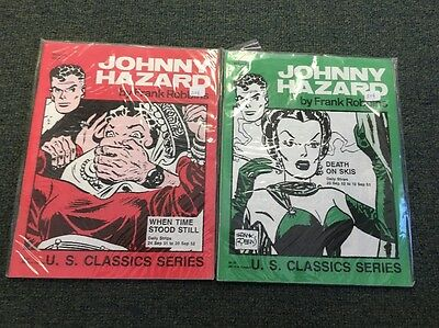 Johnny Hazard Comic Books By Frank Robbins 9 10 Excellent Condition White Pages