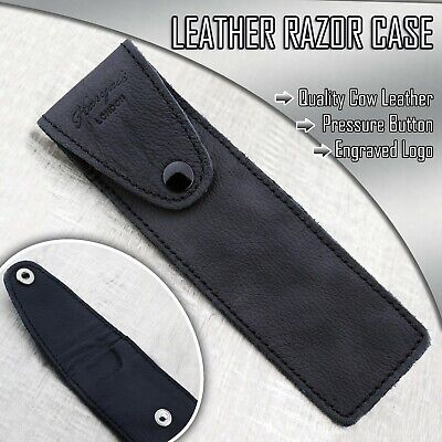 Haryali LondonStraight Razor Case Cut Throat Razor Shavette razor Leather cover