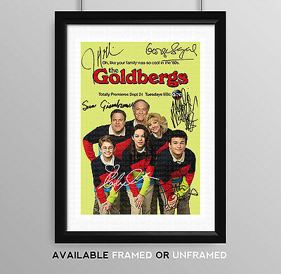 The Goldbergs Cast Signed Autograph Print Poster Photo Tv Show Series Season