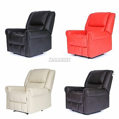 FoxHunter Luxury 1 Seater Leather Cinema Recliner Sofa Chair Armchair RS-03 New