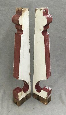 Pair Porch Bracket Corbels Shabby Cottage Chic Antique Vintage Old 1192-16