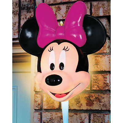 NEW Disney Minnie Mouse Porch Light Cover Outdoor Fixture Illuminated Decoration