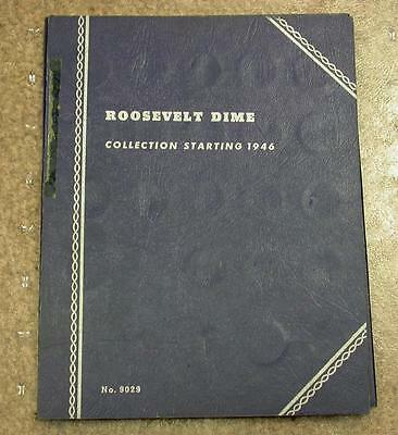 1946-1960 Complete Set Silver Roosevelt Dimes In Whitman Album - Id#F107