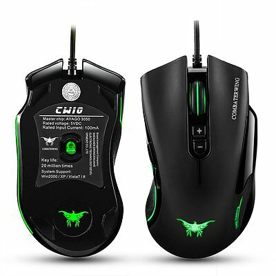 7 Buttons 4800DPI Adjustable CW-10 Wired Gaming Mouse & 6 Breathing LEDs for PC