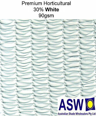 30% UV 4m x 50m Roll WHITE SHADECLOTH Horticultural Commercial Shade Cloth