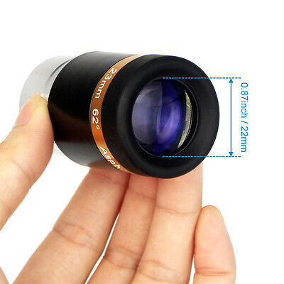 1.25'' /31.7mm 23mm Eyepiece Lens Fully Coated Wide Angle 62° for Telescope CO