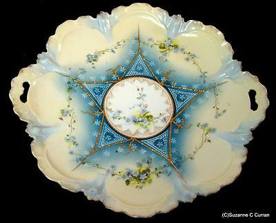 """RS Prussia 11 3/4"""" Forget-Me-Not Cake Plate Mold 30 Steeple Mark 42"""