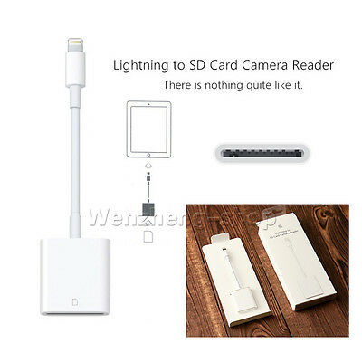 Genuine SD Card Camera Reader Adapter For iPad 4 Air 1/2 mini 2/3/4 UK STOCK