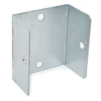 "PACK OF 10 - 52mm (2.10"") GALVANISED FENCE & TRELLIS CLIPS BRACKET PANEL FIXING"