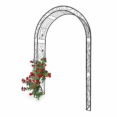Rose Arch Arbour Leaf Pattern Iron for Suport for Climbing Plants Garden Trellis