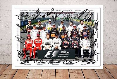 Lewis Hamilton F1 Formula One Team Drivers 2015 Autographed Signed Photo Print
