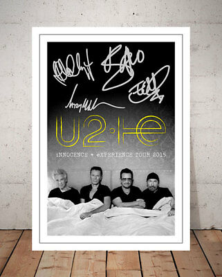 U2 Innocence And Experience 2015 Concert Flyer Autographed Signed Photo Print