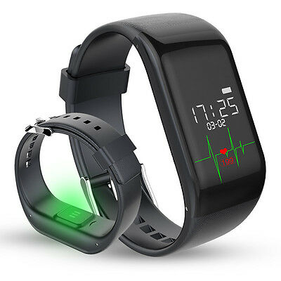 Waterproof Heart Rate Monitor Smart Watch Pedometer Fitness Wristband Bracelet