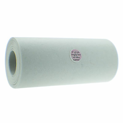 """8"""" X 10 yards White Cut-Away Embroidery Stabilizer Backing Medium Heavy Weight"""
