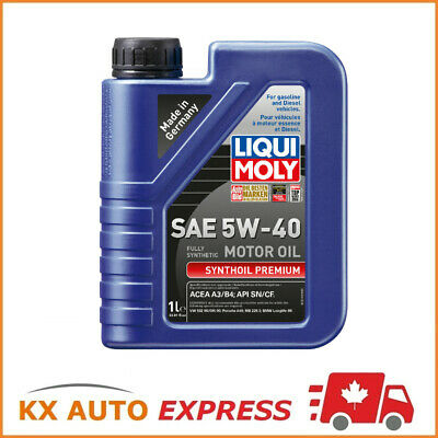Liqui Moly Synthoil Premium SAE 5W-40 Fully Synthetic Engine Oil 1L 2040