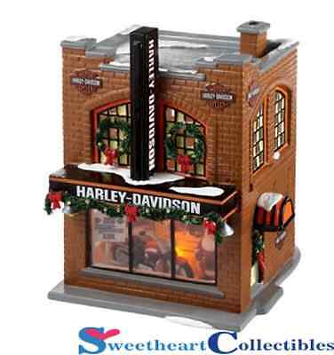 Department 56 Snow Village 4020216 Harley-Davidson Dealership