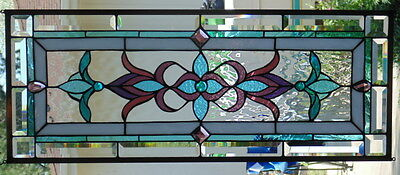 Stained Glass window hanging 33 X 13 1/4""