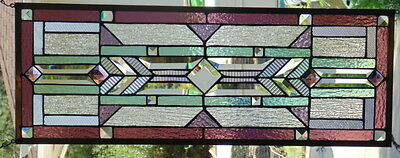 """Stained Glass window hanging 29 X 10 3/4"""""""