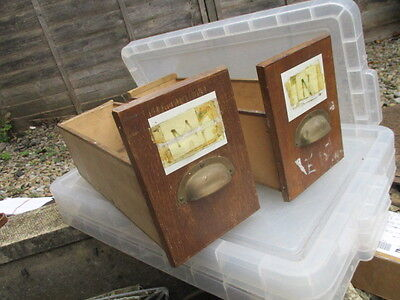 Vintage Wooden Drawer with Brass Cup Pull Handle Rack Shelf Shelve Wood £14 each