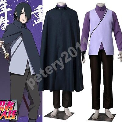 Boruto Vest Naruto shirt Uchiha Sasuke the Movie  Coat Anime Cosplay Costume