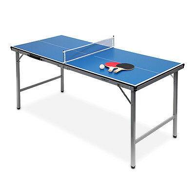 Table Tennis Ping Pong Table Midi (150x67x71) Foldable Blue Indoors & Outdoors