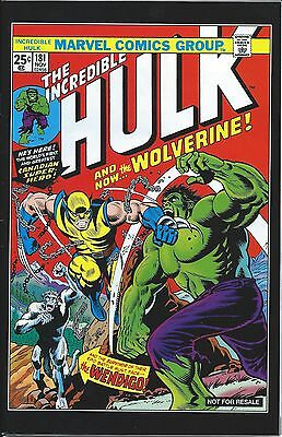INCREDIBLE HULK 181 GIVEAWAY PROMO 2nd PRINT VARIANT RARE WOLVERINE PROMOTIONAL