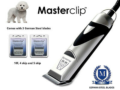 New Masterclip Professional Bichon Frise Bichon Poo Dog Clippers Trimmer Set