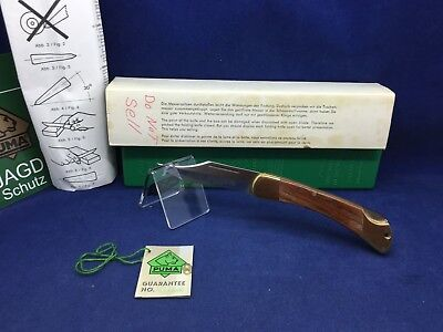 1989 Vintage Puma Deer Hunter Knife & Jacaranda Handles With Tag Mint In Box #45
