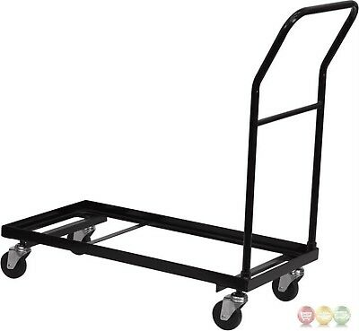 Flash Furniture Black Metal Folding Chair Dolly