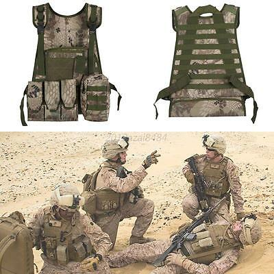 Airsoft Tactical Hunting Paintball Molle Plate Carrier Adjustable Military Vest